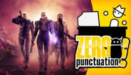 outriders zero punctuation yahtzee croshaw people can fly square enix