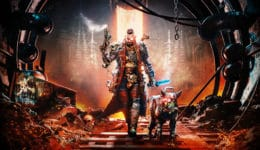 Necromunda: Hired Gun interview Streum On Studio Victor Mercier game producer Warhammer 40,000 40K brutal frenetic first-person shooter fast FPS with cyber mastiff