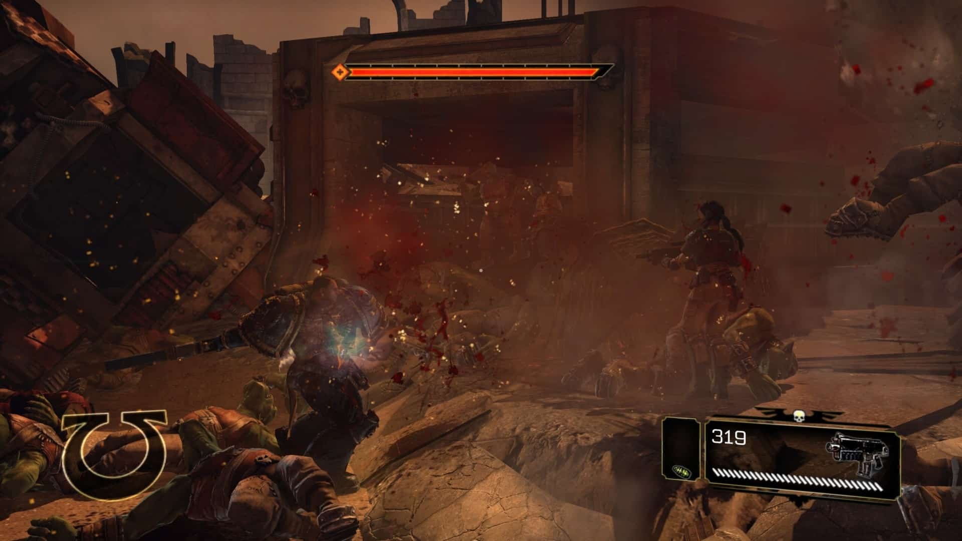 Warhammer 40,000: Space Marine 40k Relic Entertainment brutal chaos violence action and nothing else PS3 Xbox 360