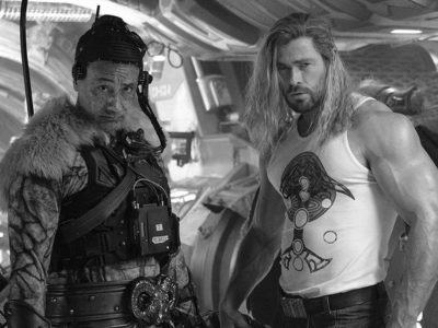 Chris Hemsworth has shared a photo of his massive biceps, and his gut is apparently gone as Thor: Love and Thunder film development wraps.