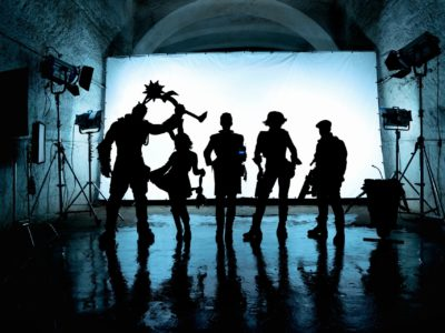 Borderlands Cast Pose in Silhouette for First Film Images movie cate blanchett jamie lee curtis claptrap jack black