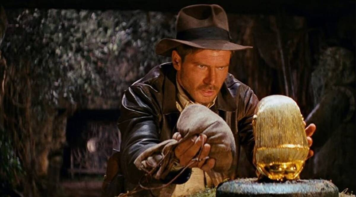 Raiders of the Lost Ark theme park roller coaster ride and cinematic marvel, a masterpiece of filmmaking and cinematography from George Lucas, Steven Spielberg, and Douglas Slocombe