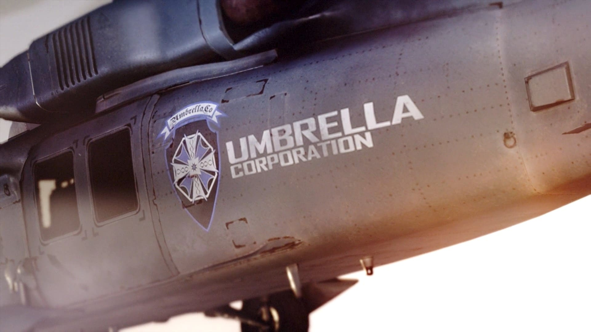 Resident Evil 7 VII Blue Umbrella Corporation helicopter
