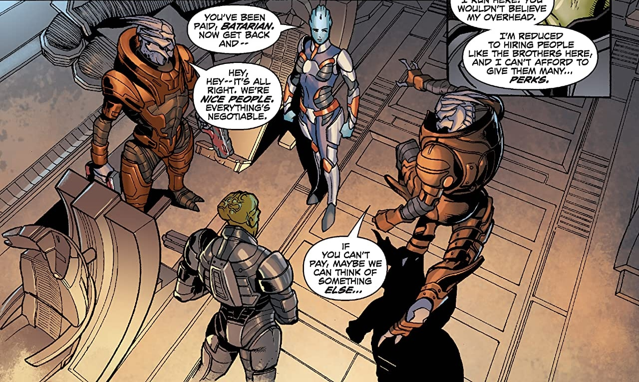 Mass Effect: Redemption BioWare comic book miniseries ties into Lair of the Shadow Broker DLC in Mass Effect 2