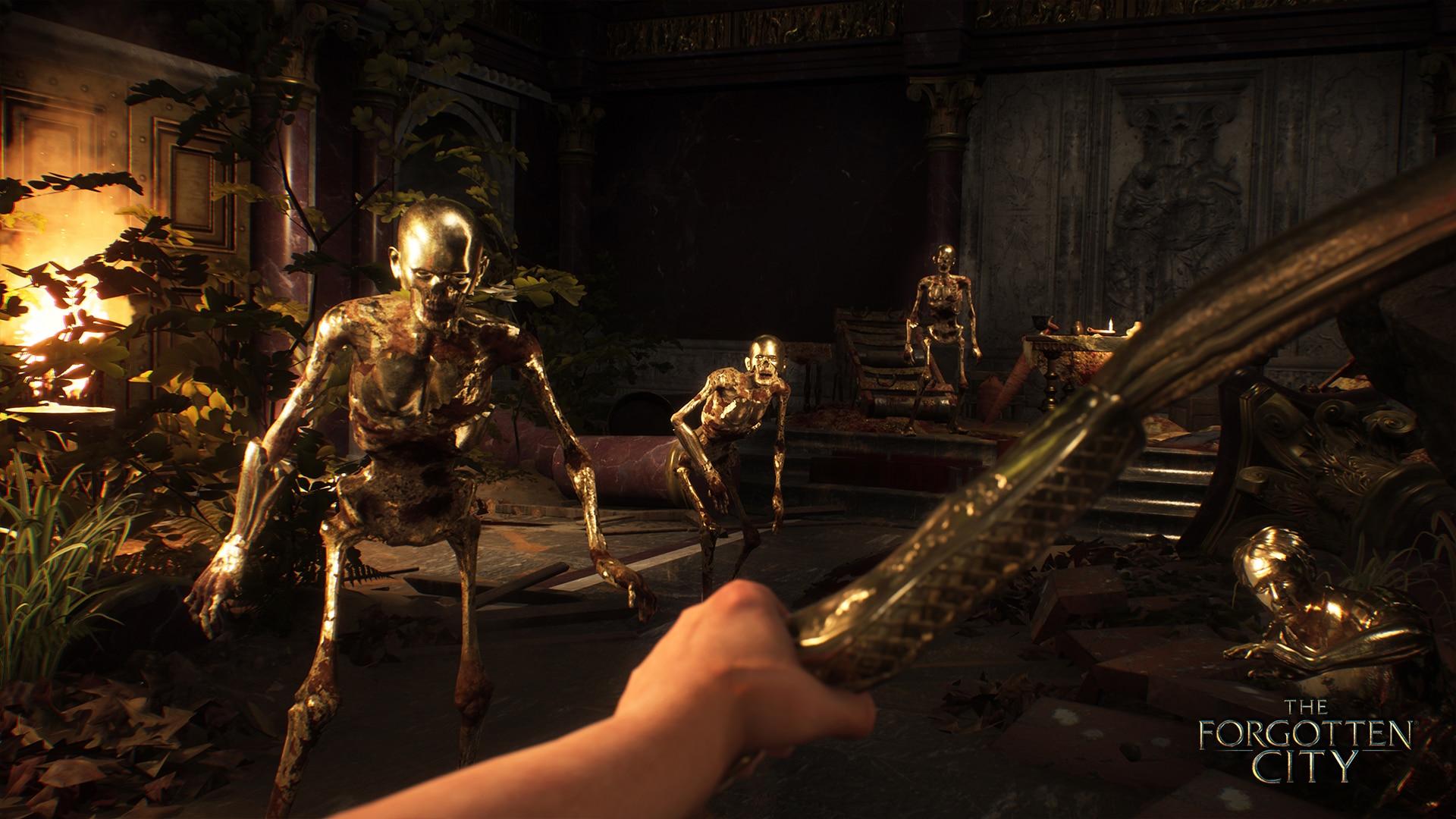 The Forgotten City game interview Modern Storyteller Nick Pearce murder mystery Skyrim mod remake