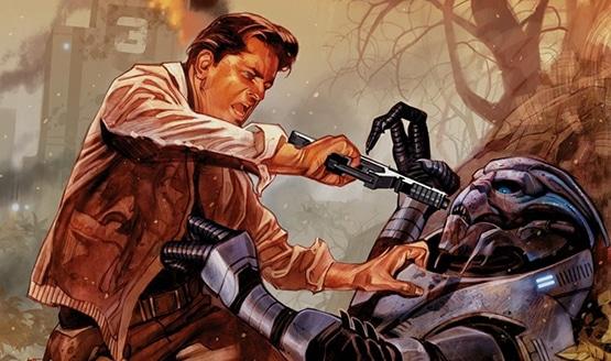 Mass Effect secret origins of Illusive Man Jack Harper origin story reapers evolution comic