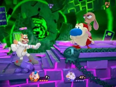 Nickelodeon All-Star Brawl, Ren, Stimpy, Ren & Stimpy, trailer, video, reveal, Super Smash Bros.