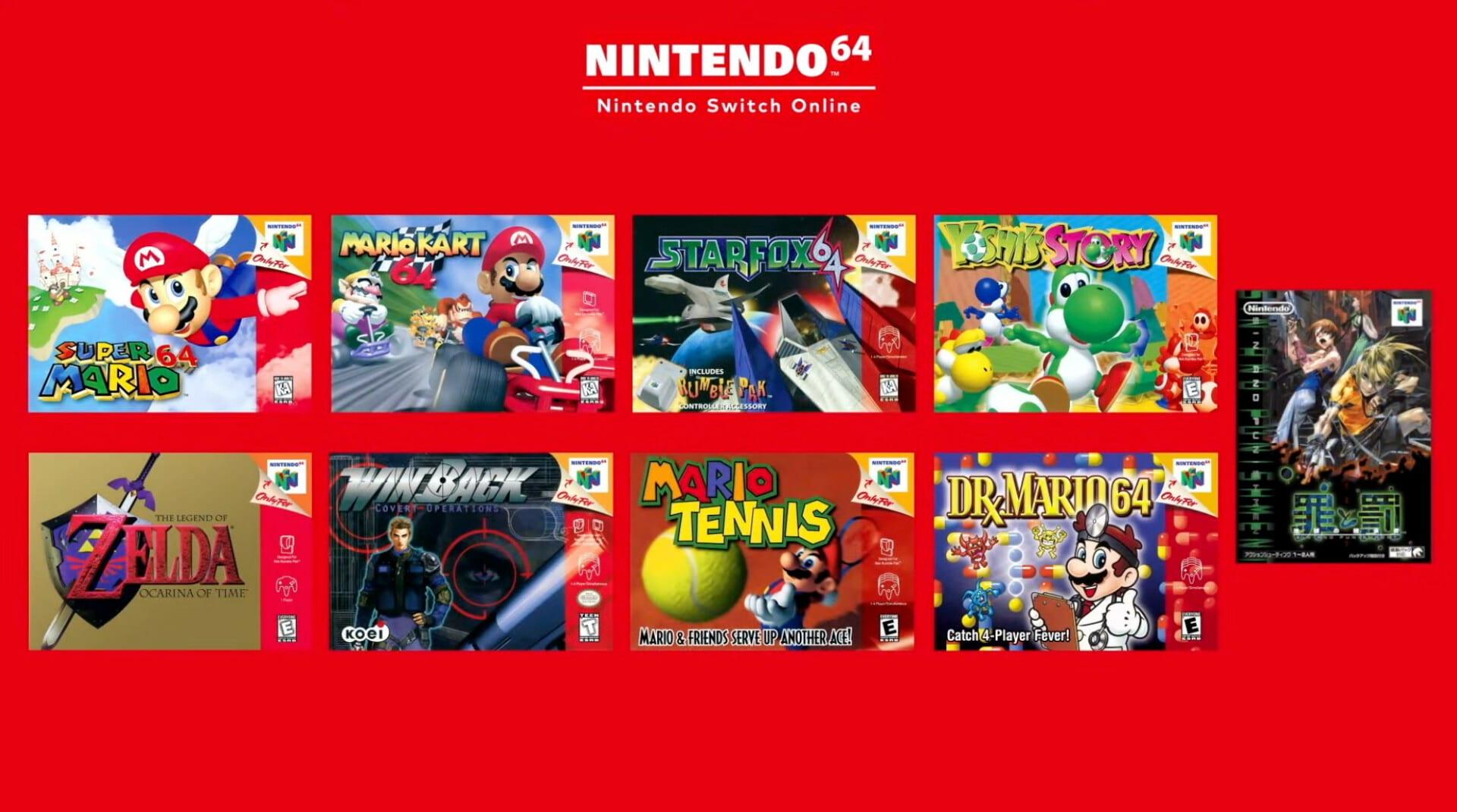 Nintendo Switch Online, Nintendo 64, Sega Genesis, games